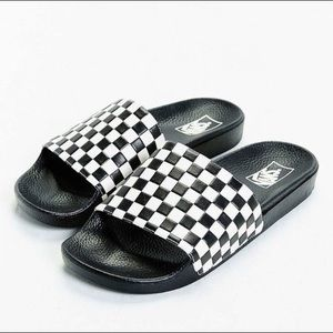80656acebb569b Vans Shoes - Vans Checkerboard Slides